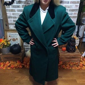 80s Pea Coat Green Size 14